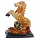 Horse Statue, Peach Gold on Black Stand, H: 90 x W: 50 x D: 70mm Horse Statue Peach Gold on Black Stand H 90 x W 50 x D 70mm Please Click the image for more information.