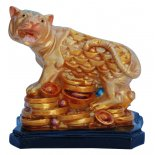 Tiger Statue, Peach Gold on Black Stand, H: 70 x W: 70 x D: 55mm Tiger Statue Peach Gold on Black Stand H 70 x W 70 x D 55mm Please Click the image for more information.
