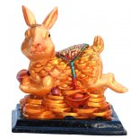 Rabbit Statue, Peach Gold on Black Stand, H: 80 x W: 70 x D: 50mm Rabbit Statue Peach Gold on Black Stand H 80 x W 70 x D 50mm Please Click the image for more information.