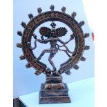 Dancing Shiva (Nataraj) Statue, Copper/Gold, H:  385 x W:  315 x D:  100mm Dancing Shiva Nataraj Statue CopperGold H  385 x W  315 x D  100mmShiva statue has many manifestations As Nataraja. Please Click the image for more information.