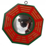 Concave Mirror, Red & Green, 100mm diameter Concave Mirror Red  Green 100mm diameter Used for specific Feng Shui problems It makes the reflection appear upside down and smaller. Please Click the image for more information.