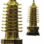 Nine Level Gold Pagoda Nine Level Gold Pagoda figurine representing Literary success Success in business dealings and peace and protection for the home. Please Click the image for more information.