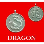 Dragon round Animal Double Sided Character/Chinese Calligraphy Pendants Dragonround Chinese year of Animal with Calligraphy pendent on black cord Please Click the image for more information.