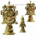 8 Buddhist symbols Gold statue of The Eight Auspicious Symbols in Buddhism1 The Right Turning Conch shell Buddhas Teachings2 The ParasolHon. Please Click the image for more information.