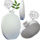 White Ceramic round flat vase This elegant and contemporary design provides usable and functional artThe black and white vase look spectacular together. Please Click the image for more information.