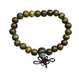 MALA BEAD BRACELET Mala bead bracelet 18 beads in green sandalwood  A meditative tool The purpose of these beads from a true Buddhist perspective is to drive away our self inflicted delusions and make us open to feelings of  peace and bliss Om . Please Click the image for more information.