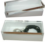 White- man made crystal top pitch black container This high quality convenient box is called man made crystal the lid looks just like crystal and is solid in structure . Please Click the image for more information.