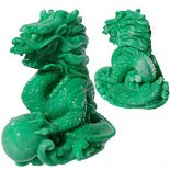 GREEN JADE FINISH DRAGON STATUE Green Jade finish Dragon figurine perfect for gift for your boyfriend corporate and used in Feng ShuiThe Green Dragon symbolises the direction of East and Spring in Feng Shui The. Please Click the image for more information.