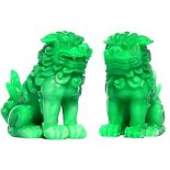 Fu Dogs in jade finish  Pair of Fu Dogs in jade finish comes in gift box with storyFu DogsLion DogsIt is said that Fu Dogs originated from Fu Lin formerly known as Constantinople The watc. Please Click the image for more information.