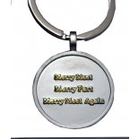 Blessed Be silver finish keyring Blessed Be silver finish keyring with Gold Merry Meet Merry Part and Merry Meet Again on silver keyring . Please Click the image for more information.