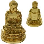 Golden Meditating Buddha  The Buddha in meditating posture Small figurine made from crushed marble and resin composite Comes in beautiful gift box gold finish Please Click the image for more information.