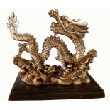Brass finish Dragon statue Brass finish Dragon statueBrass finish Dragon statue on stand made from stone and resin composite Co. Please Click the image for more information.