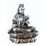 Brass finish Quan Yin statue Quan YinRepresents Fertility Compassion Protection Mercy and Unconditional LoveThe above mentioned qualities are symbolised by Quan Yin Quan Yi. Please Click the image for more information.
