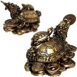 Gold Dragon headed Money Turtle statue Gold Ancient Money Turtle with the head of the Dragon and body of the TurtleUsed in Feng Shui to represent good health longevity and wealth. Please Click the image for more information.