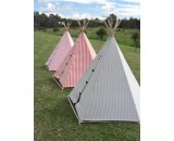 Childrens Teepee Tent At 142 cm in diameter 158cm height this teepee is both fun and functional Heavy duty 100 cotton drill fabric surrounds the solid natural timber frame and comes in a range of three different coloured stripes  red navy blue or hot pink The door . Please Click the image for more information.