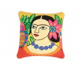 Fiesta Portrait Cushion - Yellow / Multi  Mexican inspired portrait cushion Colourful embroided details on a bright yellow background A stunning feature cushion that will add a vibrant pop of colour to your home. Please Click the image for more information.