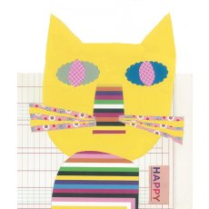 collage brights pussycat collage design mixed media Please Click the image for more information.