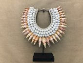 Tribal Necklace(White & Orange)  Please Click the image for more information.