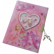 Ballerina Diary with Lock Fully lined pink pages fill this gorgeous little diary for girls with a 3D window displaying sparkly ballet shoes and a bookmark to keep your place. Please Click the image for more information.
