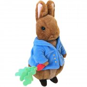 Beatrix Potter- Peter Rabbit Plush Toy 30cm SOLD OUT This pintsized Peter Rabbit measures 30cm tall and wears a blue jacket with yellow buttons and holds a radish with long green leaves in his right paw . Please Click the image for more information.