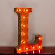 Letter Lights Fabulous Letter Number or Symbol lights can be ordered in many different colours and 2 different sizes . Please Click the image for more information.