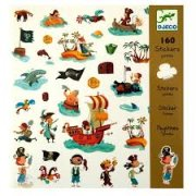 Djeco Pirate Stickers 160 Pirate themed stickers featuring lots of pirates in various scenes They have patches hats and eye patches they fly flags sail boats and search for treasure there are even parrots and a couple of scary sharks A fantastic sticker set that kids will love help them to be creative for all tastes and suitable for all occasions Ages 3 . Please Click the image for more information.