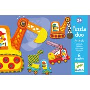 Djeco Vehicles Puzzle  SOLD OUT Create an army of earth movers and construction vehicles with this colourful early development puzzle by Djeco. Please Click the image for more information.