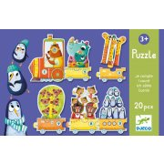 Djeco I Count Puzzle  SOLD OUT 20 piece puzzle helps teach children to count from 1 to 10 In the first carriage there was one animal two in the second three in the third etc Age. Please Click the image for more information.