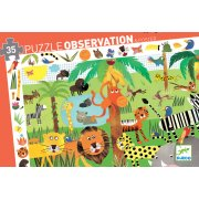 Djeco Jungle Observation Puzzle  There are lots of things to find in this observation puzzle Start by putting all the pieces together then have fun finding items from the border in the picture  . Please Click the image for more information.