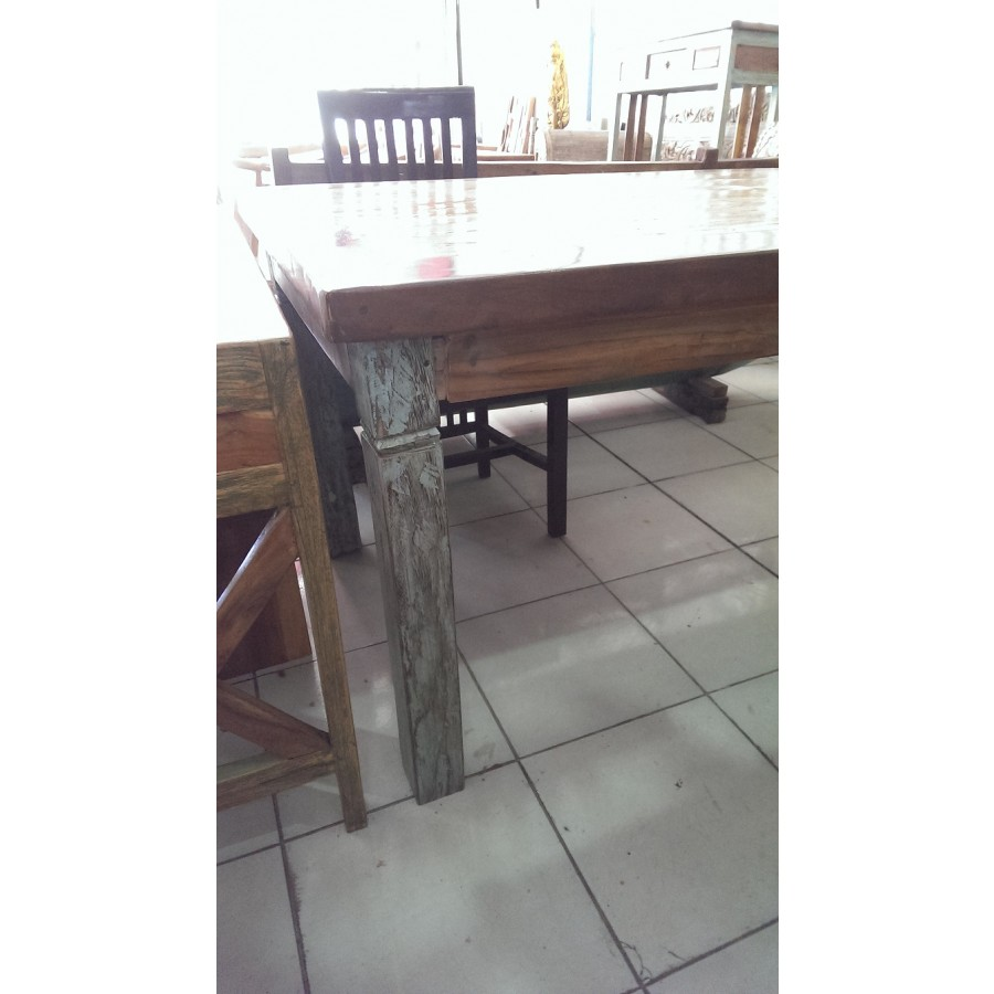 Ab 0287 Antique Javanese Boat Teak Dining Table Balinese And Indonesian Furniture Balinese