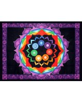 Rainbow Chakra Cotton Tapestry - $55.00 The energizing colors of the chakras vibrate against the black and purple background of this stunning tapestry. Please Click the image for more information.