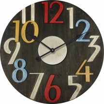 MDF Wood Modern Multicoloured Large Numbers 60cm Wall Clock  Please Click the image for more information.
