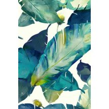 Textured Wall Art Palm Leaves with Embellishing Print - Artwork 1  Please Click the image for more information.