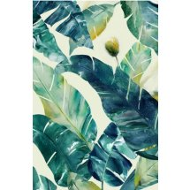 Textured Wall Art Palm Leaves with Embellishing Print - Artwork 2  Please Click the image for more information.