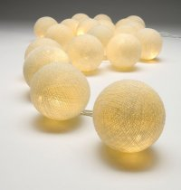 Cream Ball String Lights  The String lights are warm LED  providing a beautiful warmtone light and consuming very little power making them a great sustainable decoration and giftPerf. Please Click the image for more information.