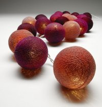 Burgundy Ball String Lights The String lights are warm LED  providing a beautiful warmtone light and consuming very little power making them a great sustainable decoration and giftPerf. Please Click the image for more information.