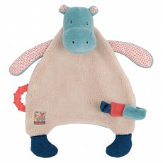 moulin roty les papoum hippo comforter with teether Our hippo baby comforter is from Moulin rotys popular Les Papoum jungle range   A beautifully designed comforter that features intricate fabric details on ears arms and legs Al. Please Click the image for more information.