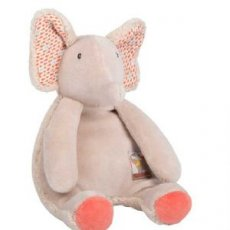 moulin roty les papoum elephant rattle moulin roty les papoum elephant rattle  plush toy enhanced by coral tones on the bottom of the feet and cotton printed fish in the ears . Please Click the image for more information.