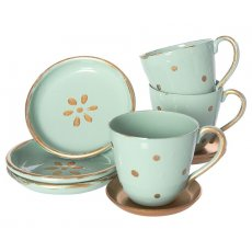 maileg tea time Its tea time This lovely tea set comes with three tea cups with saucers and three plates all beautifully wrapped in a gift box B. Please Click the image for more information.