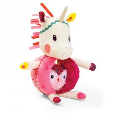 Lilliputiens louise unicorn rattle with handle Grab Louise by one of her handles and shake her to make her jingle Look inside to find her wise owl friend who is securely attached but can come out to play . Please Click the image for more information.