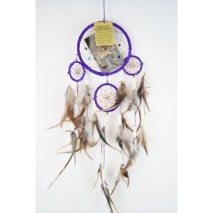 Traditional Dream Catcher - Feather and Bone - Purple According to Native American legend by hanging a dream catcher over your sleeping area the bad dreams will be deterred by the bead and the feathers will attract and allow the good dreams to pass throughLo. Please Click the image for more information.