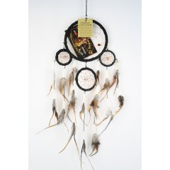 Traditional Dream Catcher - Feather and Bone - Black According to Native American legend by hanging a dream catcher over your sleeping area the bad dreams will be deterred by the bead and the feathers will attract and allow the good dreams to pass throughLo. Please Click the image for more information.