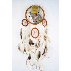 Traditional Dream Catcher - Feather and Bone - Tan According to Native American legend by hanging a dream catcher over your sleeping area the bad dreams will be deterred by the bead and the feathers will attract and allow the good dreams to pass throughLo. Please Click the image for more information.