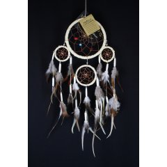 Traditional Dream Catcher - Feather and Bone - Cream According to Native American legend by hanging a dream catcher over your sleeping area the bad dreams will be deterred by the bead and the feathers will attract and allow the good dreams to pass throughLo. Please Click the image for more information.