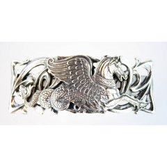 Australian Made Hair Clip Seahorse Hippocanthus Pewter Core with quality STG Silver Plating Finish This beautiful hair clip is functional durable and eye catching with a strong spring clip on the backSize. Please Click the image for more information.