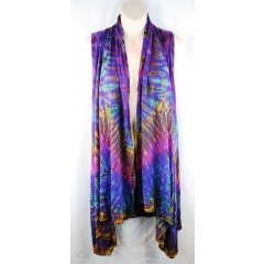 Long Stretch Rayon Tie Dye Cowl Vest - Onesize Long Stretch Rayon Tie Dye Cowl Vest   Onesize  A fantastic vest in rayon spandex tie dyes which is suitable for all sizes G. Please Click the image for more information.