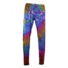 Tie Dye Knit Leggings - Viscose Jersey - fits up to Size 14 - Assorted Colours Tie Dye Knit Leggings in viscose jersey funky layered with blacks and our other tie dyes One size fits up to 14Th. Please Click the image for more information.