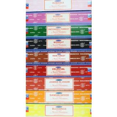 Satya Incense Sticks 15g each - 10 Varieties Satya Incense Sticks 15g each  10 Varieties Shrinivas Sugandhalaya makers of world famous Nag Champa incense brings you  10 wonderful new scents Exc. Please Click the image for more information.