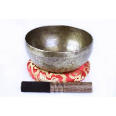 Traditional Hand Beaten Singing Bowl/Stick/Cushion Auspicious Symbols-900-1.19Kg These beautiful bowls are hand beaten in Nepal and are created from a blend of 7 different metals gold silver mercury copper iron tin and lead There. Please Click the image for more information.