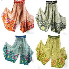 Enigma Funky Pants 100% Cotton Hippy, Boho, Comfortable & Cool-Circles Enigma Funky Pants  Circle Design  Cotton  Elastic Waist  Size S  3XL Our popular Funky Pants are back in great new designs and colours These . Please Click the image for more information.